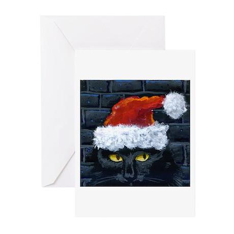 Kitty Claws Secret Santa Greeting Cards (Pk of 10)