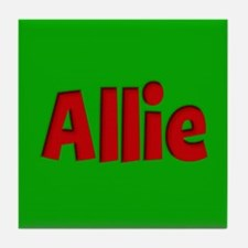 Allie Green and Red Tile Coaster