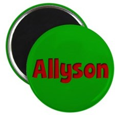 Allyson Green and Red Magnet