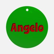 Angelo Green and Red Ornament (Round)