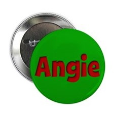 """Angie Green and Red 2.25"""" Button"""