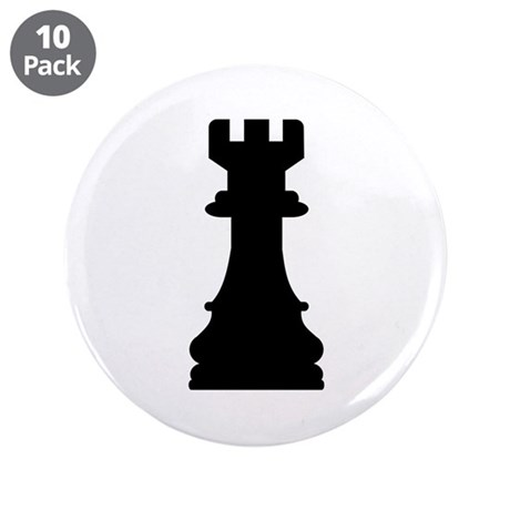"""Chess castle 3.5"""" Button (10 pack)"""