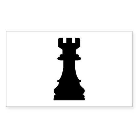 Chess castle Sticker (Rectangle)