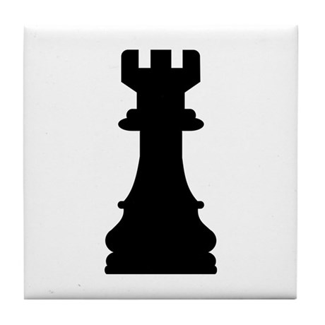 Chess castle Tile Coaster