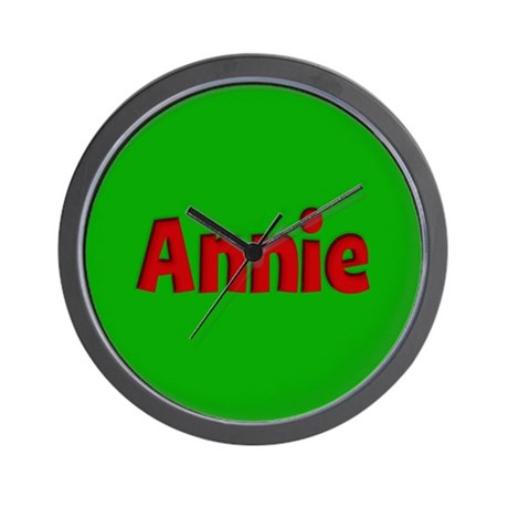 Annie Green and Red Wall Clock