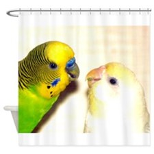 PARAKEETS LOOK OF LOVE Shower Curtain