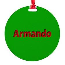 Armando Green and Red Ornament