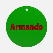 Armando Green and Red Ornament (Round)