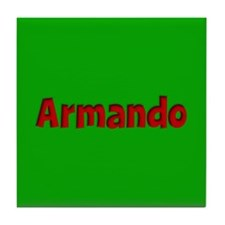 Armando Green and Red Tile Coaster