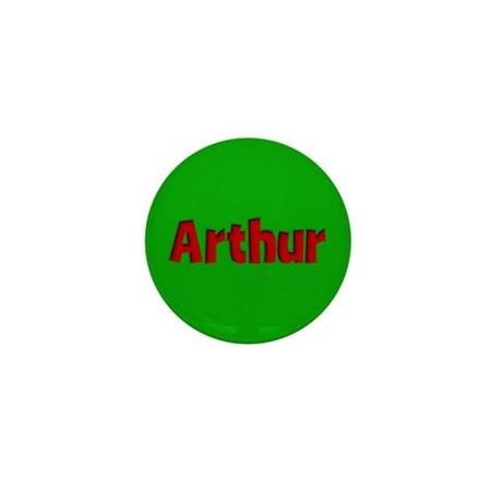 Arthur Green and Red Mini Button (10 pack)