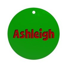 Ashleigh Green and Red Ornament (Round)