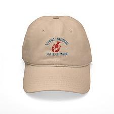 York Harbor ME - Lobster Design. Baseball Cap