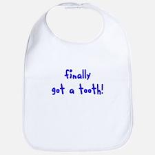 finally got a tooth Bib