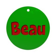 Beau Green and Red Ornament (Round)