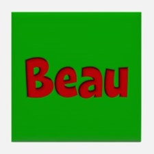 Beau Green and Red Tile Coaster