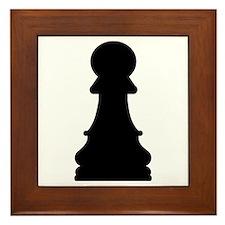 Chess pawn Framed Tile