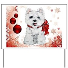 Westie Red Christmas Yard Sign