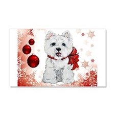 Westie Red Christmas Car Magnet 20 x 12
