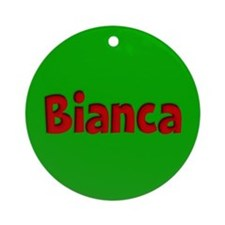 Bianca Green and Red Ornament (Round)