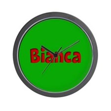 Bianca Green and Red Wall Clock