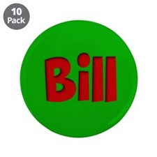 """Bill Green and Red 3.5"""" Button (10 pack)"""