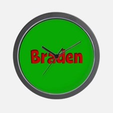 Braden Green and Red Wall Clock