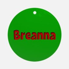 Breanna Green and Red Ornament (Round)