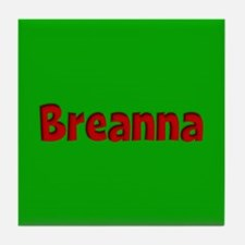 Breanna Green and Red Tile Coaster
