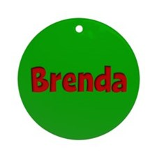 Brenda Green and Red Ornament (Round)