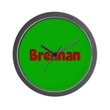 Brennan Green and Red Wall Clock