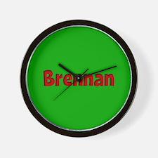 Brennan Green and Red Wall Clock