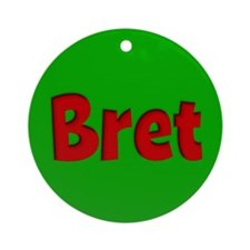 Bret Green and Red Ornament (Round)