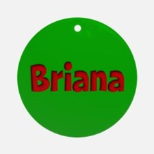 Briana Green and Red Ornament (Round)