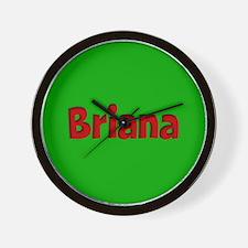 Briana Green and Red Wall Clock