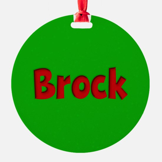 Brock Green and Red Ornament