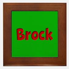 Brock Green and Red Framed Tile