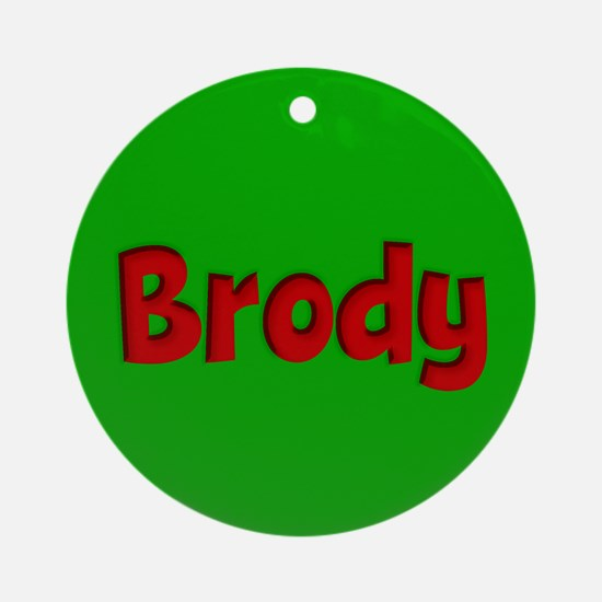Brody Green and Red Ornament (Round)