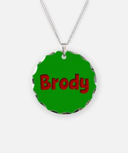 Brody Green and Red Necklace