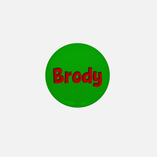 Brody Green and Red Mini Button