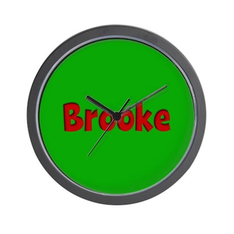 Brooke Green and Red Wall Clock