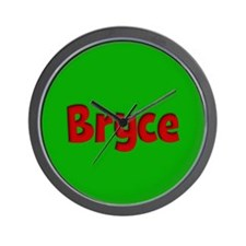 Bryce Green and Red Wall Clock
