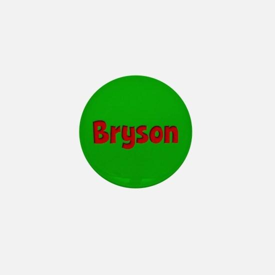 Bryson Green and Red Mini Button