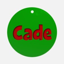 Cade Green and Red Ornament (Round)