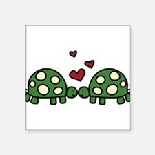 "Love Turtles Square Sticker 3"" x 3"""