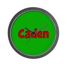 Caden Green and Red Wall Clock