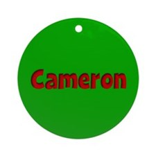 Cameron Green and Red Ornament (Round)