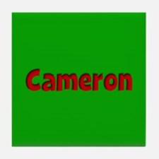 Cameron Green and Red Tile Coaster