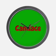 Candace Green and Red Wall Clock