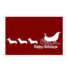"W Dachshund ""Sleigh"" Postcards (Package of 8)"