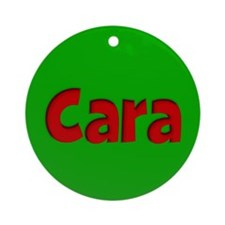 Cara Green and Red Ornament (Round)
